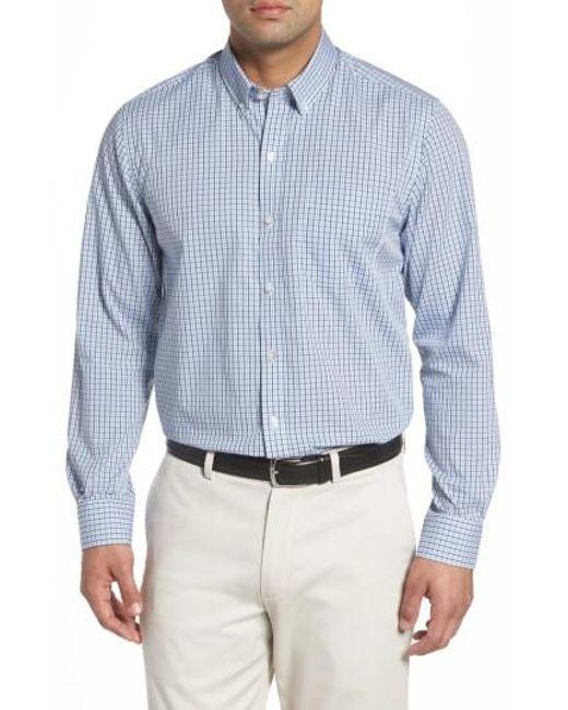 Cutter & Buck | Blue Easton Non-iron Plaid Sport Shirt for Men | Lyst