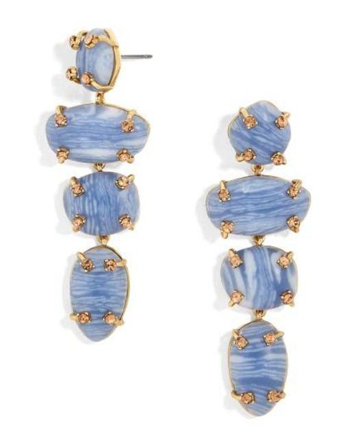 BaubleBar | Blue Devina Drop Earrings | Lyst