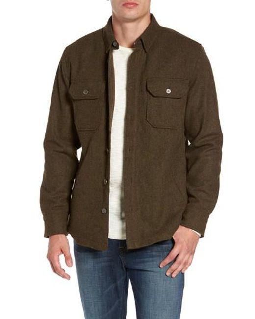Jeremiah   Multicolor Creek Herringbone Wool Shirt Jacket for Men   Lyst