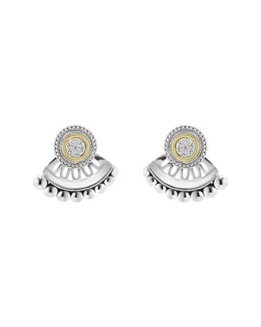 Lagos   Metallic Caviar Diamond Stud Earrings   Lyst