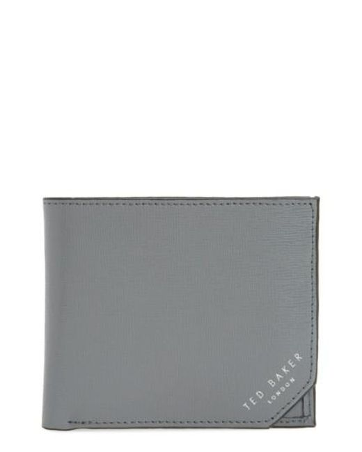 Ted Baker | Gray Leather Wallet for Men | Lyst