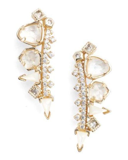 Kendra Scott   Metallic Clarissa Drop Earrings   Lyst