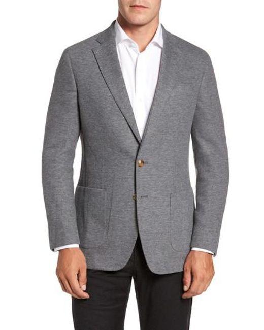 Peter Millar | Gray Sierran Jersey Knit Jacket for Men | Lyst