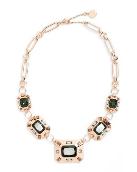 Vince Camuto   Metallic Frontal Necklace   Lyst