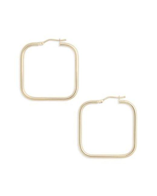 Bony Levy | Metallic Square Hoop Earrings | Lyst