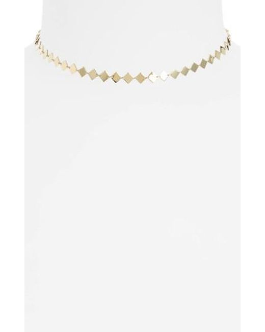 Bony Levy | Multicolor Side Square Choker Necklace | Lyst