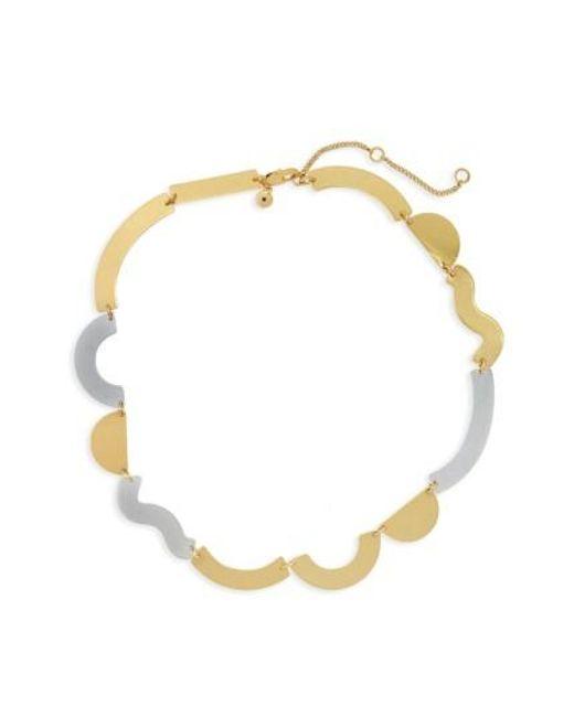 Madewell | Metallic Flat Wave Collar Necklace | Lyst