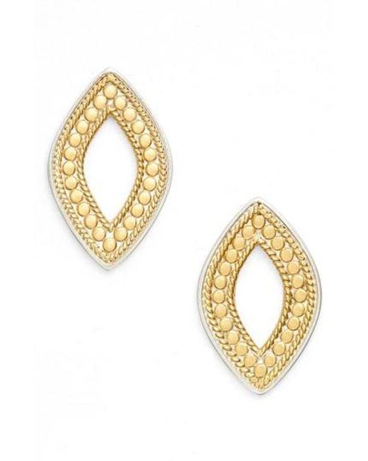 Anna Beck | Metallic Open Stud Earrings | Lyst