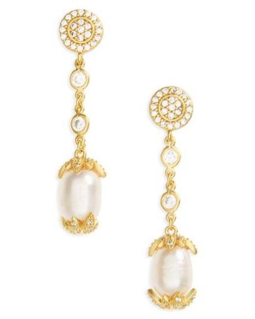 Freida Rothman | Metallic Audrey Linear Drop Earrings | Lyst