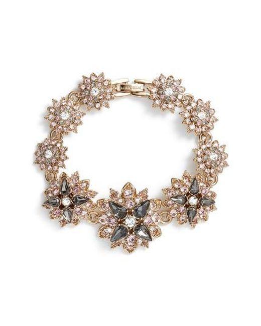 Marchesa   Metallic Crystal Bracelet   Lyst