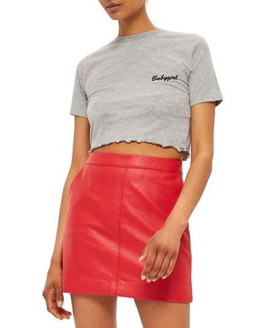 TOPSHOP | Gray By Tee & Cake Babygirl Crop Tee | Lyst