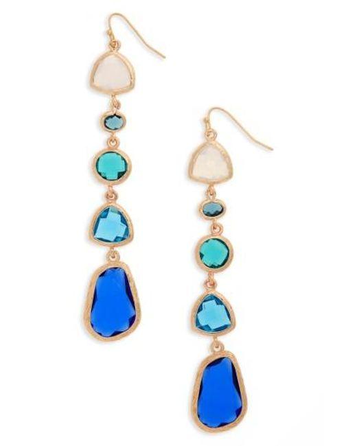 Panacea | Blue Drop Earrings | Lyst