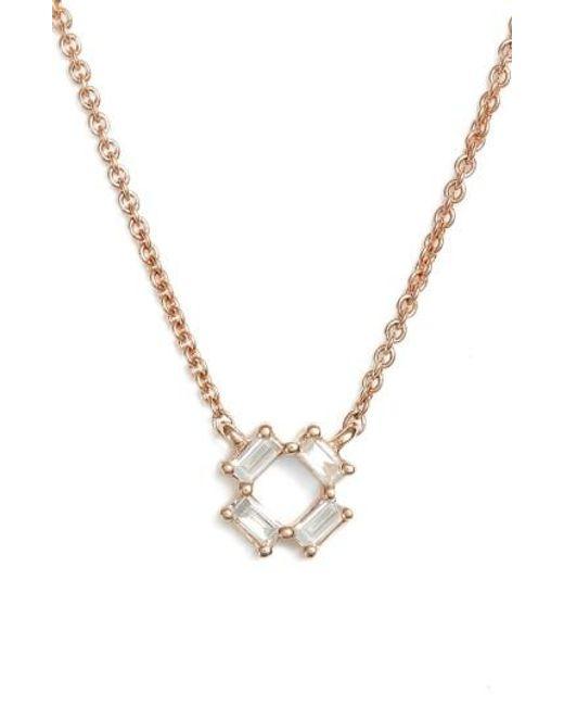 Dana Rebecca | Metallic Sadie Diamond Pendant Necklace | Lyst
