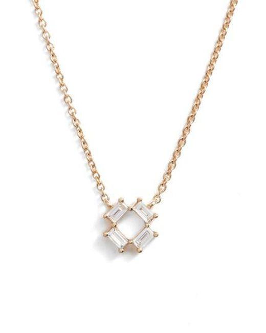 Dana Rebecca   Metallic Sadie Diamond Pendant Necklace   Lyst
