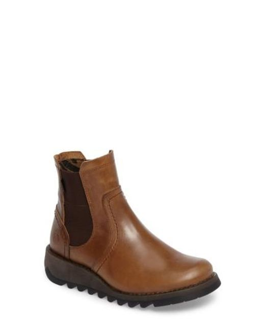 Fly London | Brown Scon Chelsea Boot | Lyst