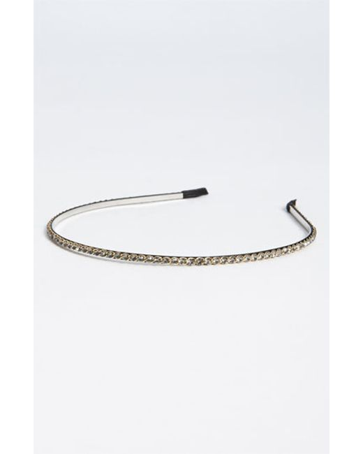 Cara | Gray Skinny Crystal Headband | Lyst