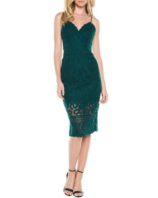 Bardot - Green Gia Lace Pencil Dress - Lyst
