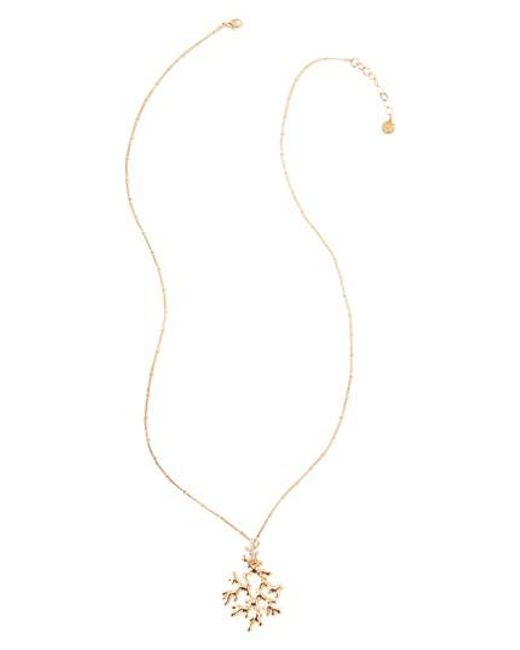 Lilly Pulitzer - Metallic Lilly Pulitzer Coral Reef Pendant Necklace - Lyst