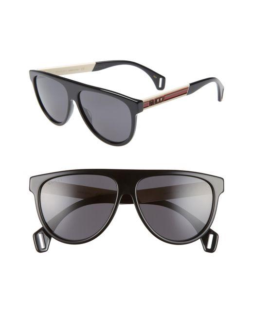 05f501ae8b95 Gucci - Gray 58mm Aviator Sunglasses for Men - Lyst ...