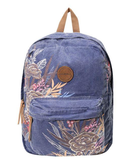 O'neill Sportswear - Blue Blazin Floral Print Backpack - Lyst