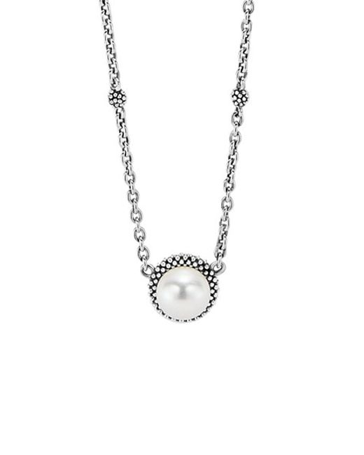 Lagos | Metallic 'luna' Pearl Pendant Necklace | Lyst