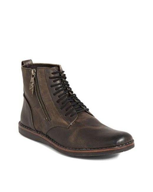 John Varvatos | Gray 'barrett' Plain Toe Boot for Men | Lyst