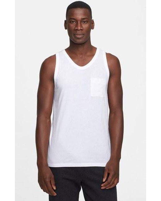 T By Alexander Wang | White Tank Top for Men | Lyst