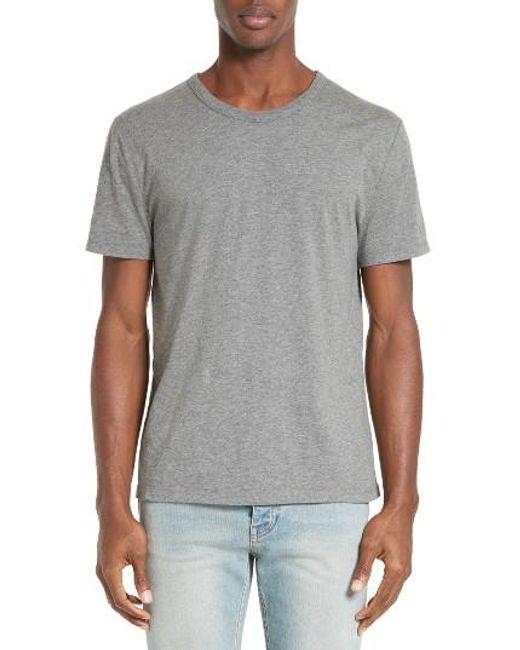 T By Alexander Wang   Gray 'classic' T-shirt for Men   Lyst