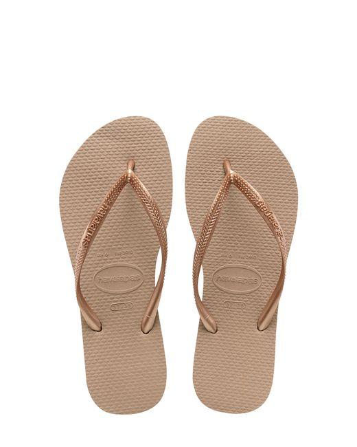 Havaianas Pink Slim Rubber Flip-Flops