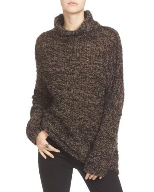 Free People | Blue 'she's All That' Knit Turtleneck Sweater | Lyst
