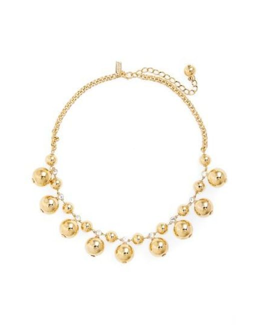 Kate Spade   Metallic Golden Girl Collar Necklace   Lyst