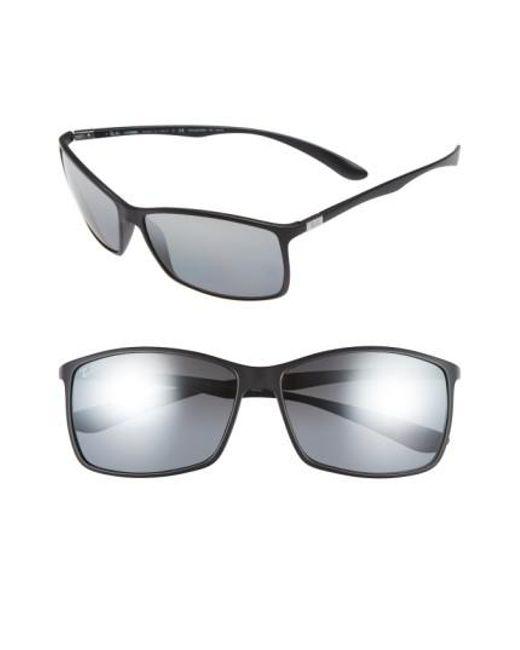 c46c25525de ... sweden ray ban black tech liteforce 62mm polarized sunglasses for men  lyst 74b84 ef06e