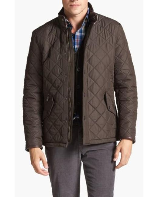 Barbour   Green 'powell' Regular Fit Quilted Jacket for Men   Lyst