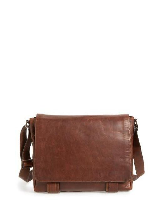 Frye | Brown 'logan' Messenger Bag for Men | Lyst