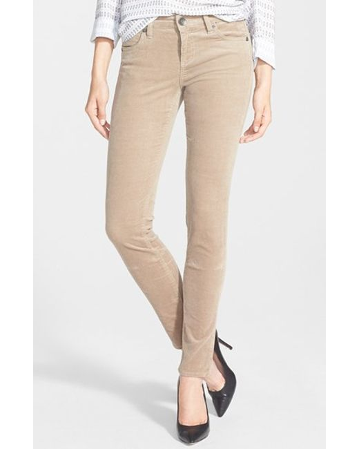 Kut From The Kloth | Natural 'diana' Stretch Corduroy Skinny Pants | Lyst