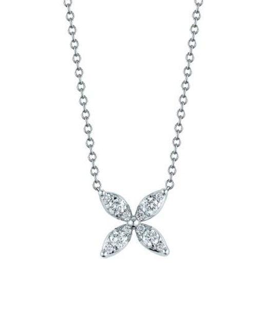 Kwiat   White 'sunburst' Diamond Pendant Necklace   Lyst
