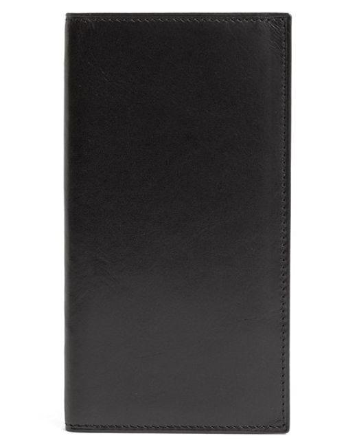Bosca | Black 'old Leather' Checkbook Wallet for Men | Lyst