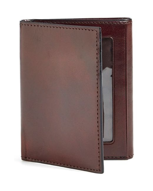 Bosca | Brown 'old Leather' Trifold Wallet for Men | Lyst