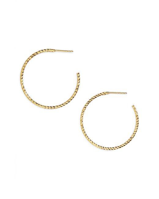 Argento Vivo Metallic Textured Hoop Earrings