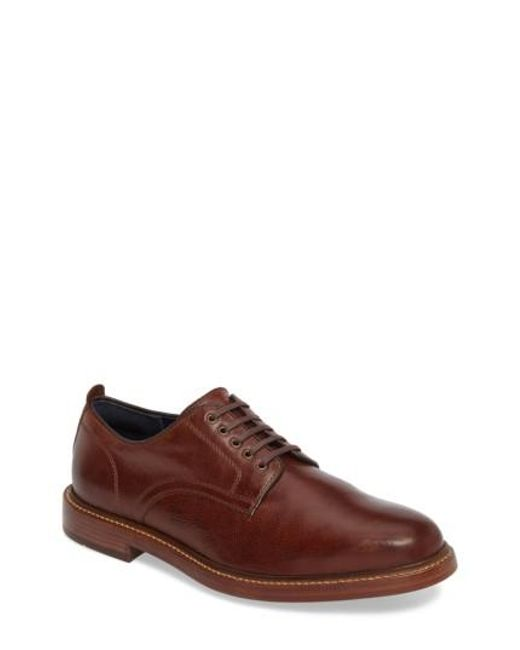 Cole Haan | Brown Tyler Grand Plain-toe Derby for Men | Lyst