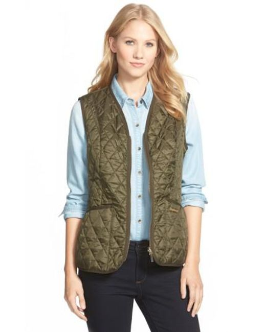 Barbour - Green 'beadnell' Quilted Liner - Lyst
