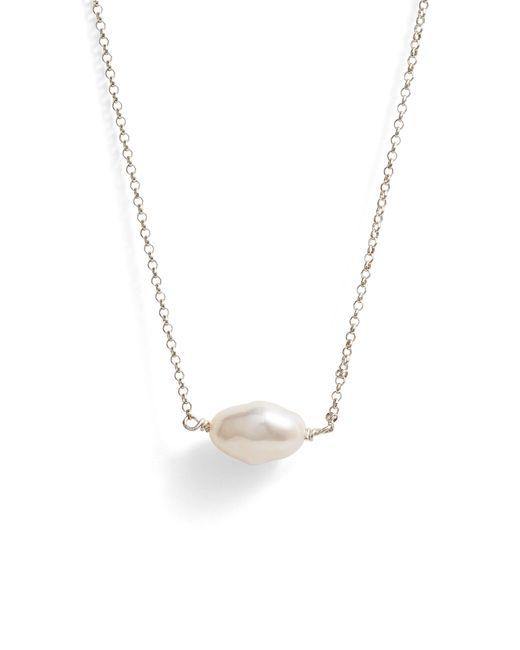 Faris - Metallic Keshi Cultured Pearl Necklace - Lyst