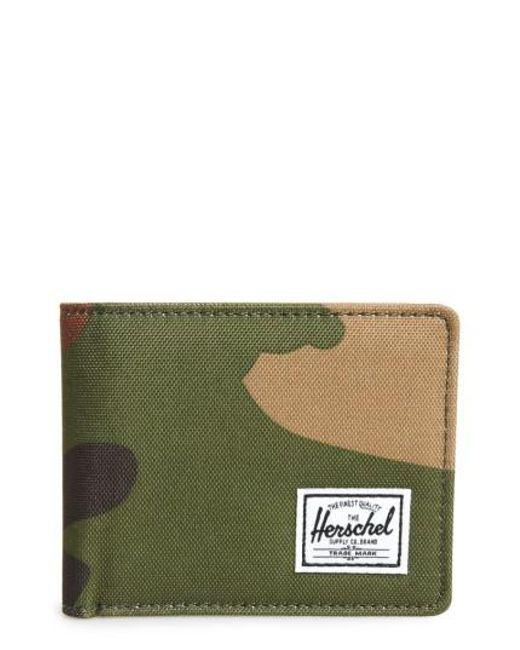 Herschel Supply Co. | Green Hank Rfid Bifold Wallet for Men | Lyst