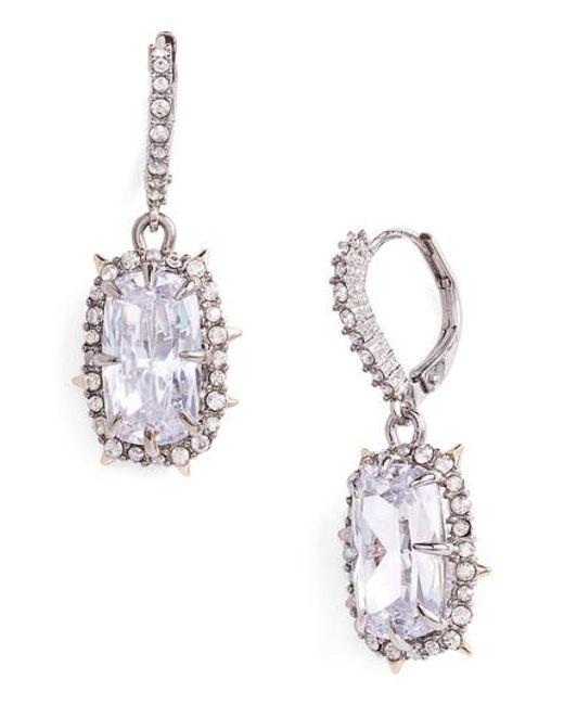 Alexis Bittar | Metallic Swarovski Crystal Drop Earrings | Lyst