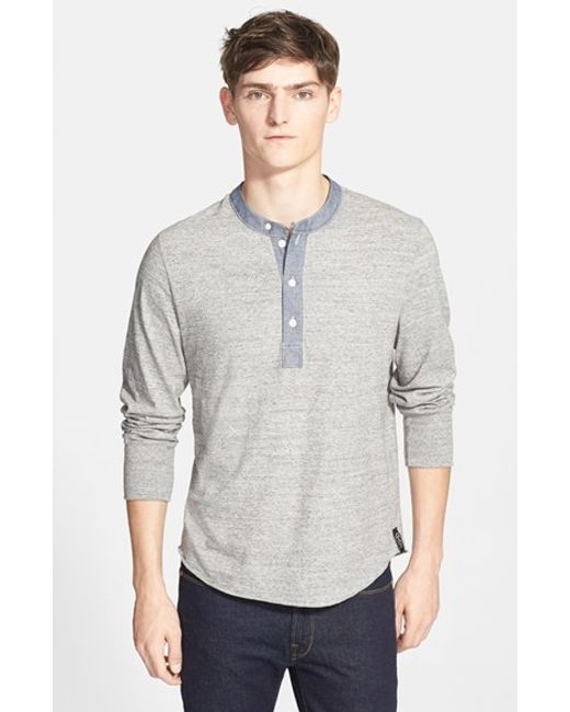Todd Snyder | Gray Classic Henley for Men | Lyst
