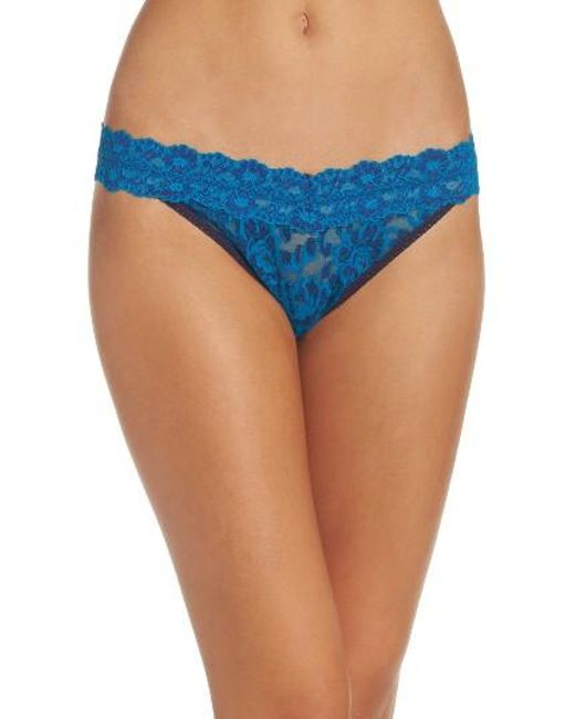 Hanky Panky | Blue Cross Dyed Regular Rise Thong | Lyst