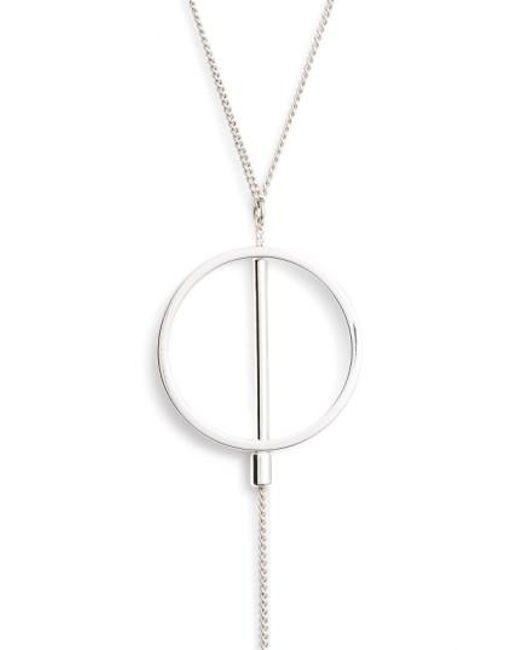 Jenny Bird | Metallic Rhine Lariat Necklace | Lyst