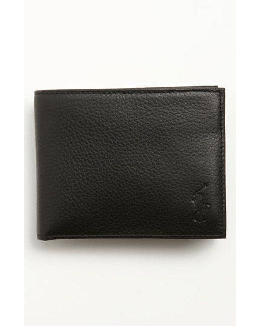 Polo Ralph Lauren | Black Leather Passcase Wallet for Men | Lyst