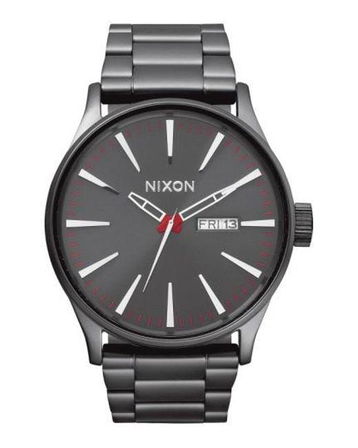Nixon | Metallic Sentry Bracelet Watch | Lyst