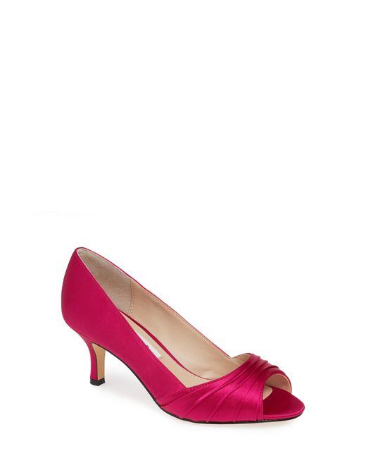 4ab9adadc250 Lyst - Nina Chezare Peep Toe Pump in Pink
